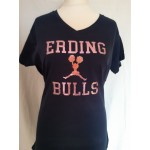 Ladies Shirt Bulls Cheerleader Glitzer Pink