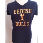 Ladies Shirt Bulls Cheerleader Glitzer Gold