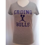 Ladies Shirt Bulls Cheerleader Glitzer Blue